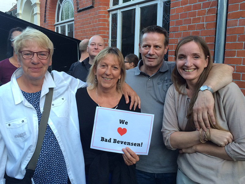 "Stadtfestbesucher bei der Aktion ""We love Bad Bevensen"""