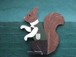 Hans-Hermann-Kunstaktion: das Eichhörnchen als Jungschütze