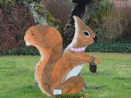 Hans-Hermann-Kunstaktion: das Eichhörnchen als Hermine