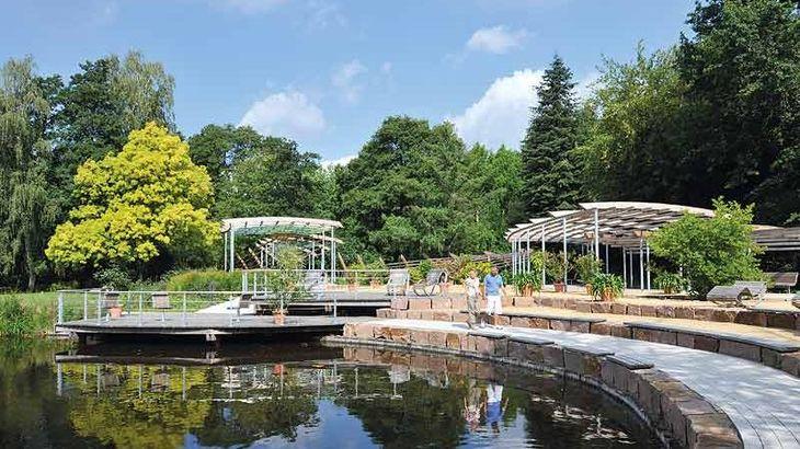 Urlaub in Bad Bevensen: Spaziergänger im Kurpark