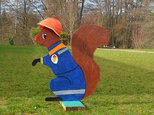 Hans-Hermann-Kunstaktion: das Eichhörnchen als Florian