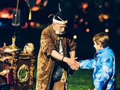 Zauberer bei der Kurparknacht