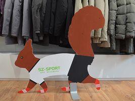 Hans-Hermann-Kunstaktion: das Eichhörnchen als Fußballer