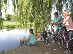 Radfahren an der Ilmenau
