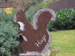 Hans-Hermann-Kunstaktion: das Eichhörnchen als Hugo