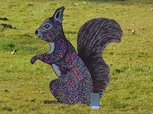 Hans-Hermann-Kunstaktion: das Eichhörnchen als Partyhörnchen