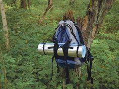 Rucksack eines Wanderers