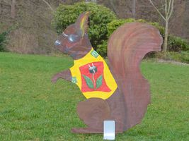 Hans-Hermann-Kunstaktion: das Eichhörnchen als Energie-Hörnchen