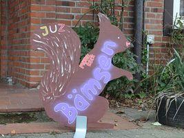 Hans-Hermann-Kunstaktion: das Eichhörnchen im Jugendzentrum