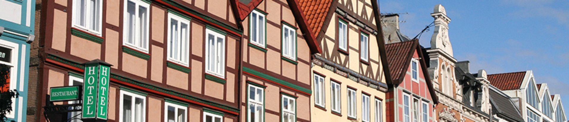 Häusergiebel in der Innenstadt von Uelzen