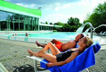 Relaxen im Liegestuhl Jod-Sole-Therme Bad Bevensen