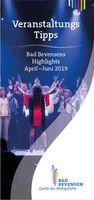 Veranstaltungshighlights April bis Oktober 2019