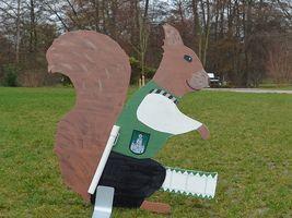 Hans-Hermann-Kunstaktion: das Eichhörnchen als Spielmann
