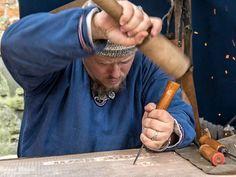 Handwerker auf dem Mittelaltermarkt