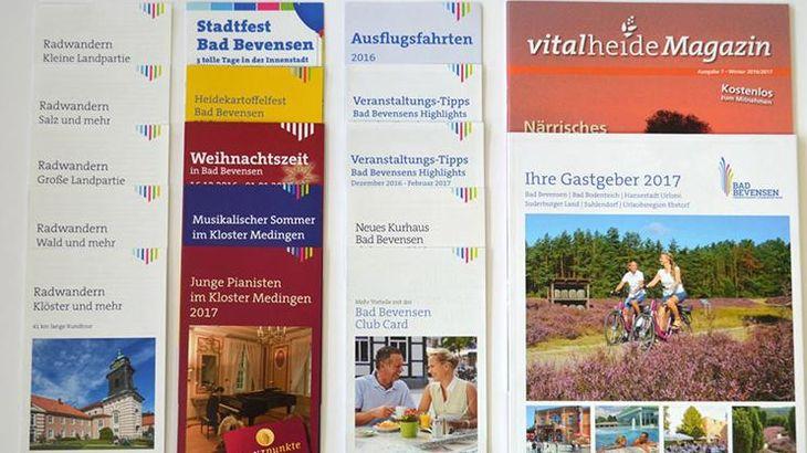 Flyer der Bad Bevensen Marketing GmbH