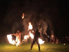 Feuershow beim Mittelaltermarkt im Kurpark