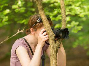 Fotograf in der Natur